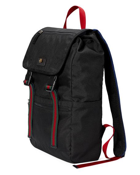 Men's Technical Canvas Web Backpack