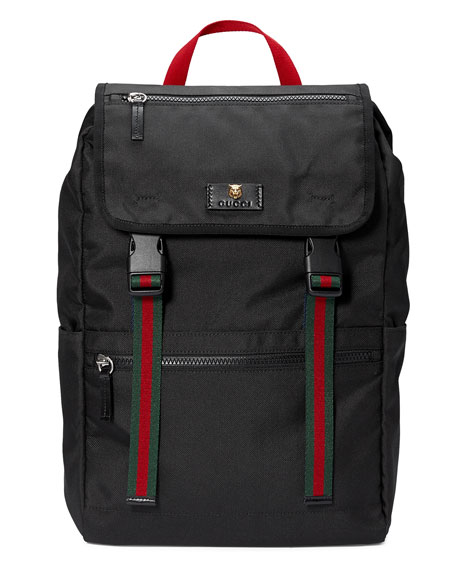 Men's Technical Canvas Web Backpack