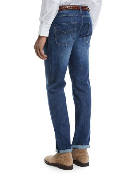 Basic-Fit Straight-Leg Denim Jeans