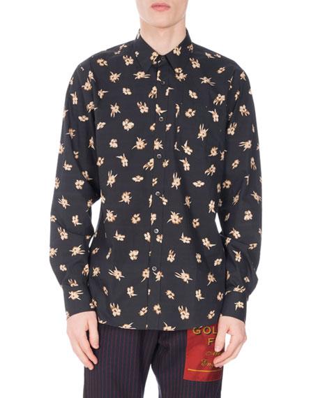 Corbin Floral-Print Shirt