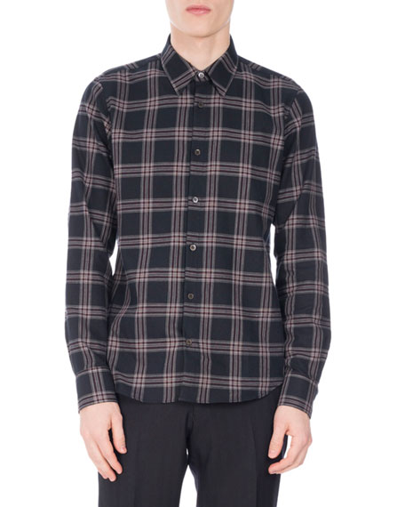 9ba75f6d81 Dries Van Noten Chaines Plaid Flannel Shirt
