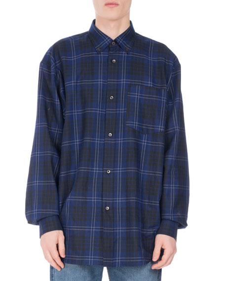 Cliff Oversized Plaid Shirt