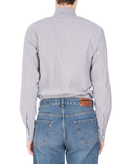 Curley Mixed-Stripe Shirt