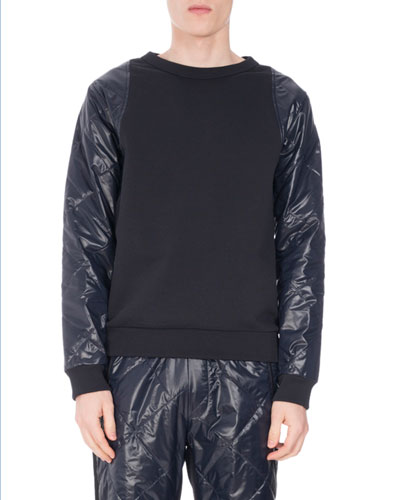 Helmy Crewneck Puff-Sleeve Sweatshirt