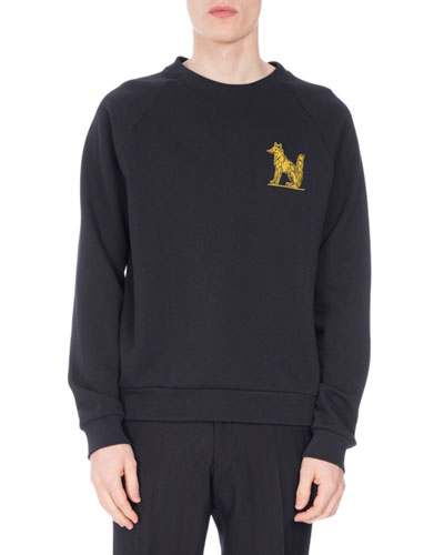 Henric Fox-Embroidered Sweatshirt