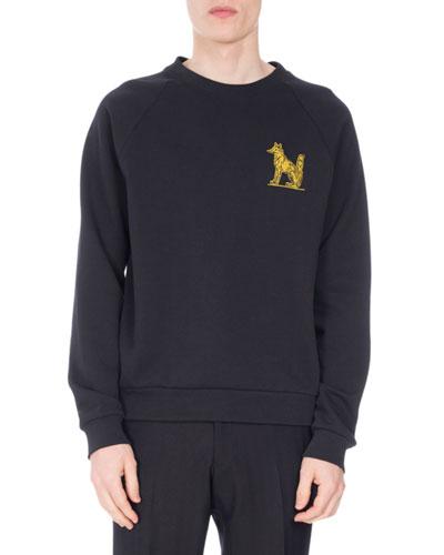 Henric Fox-Embroidered Sweatshirt