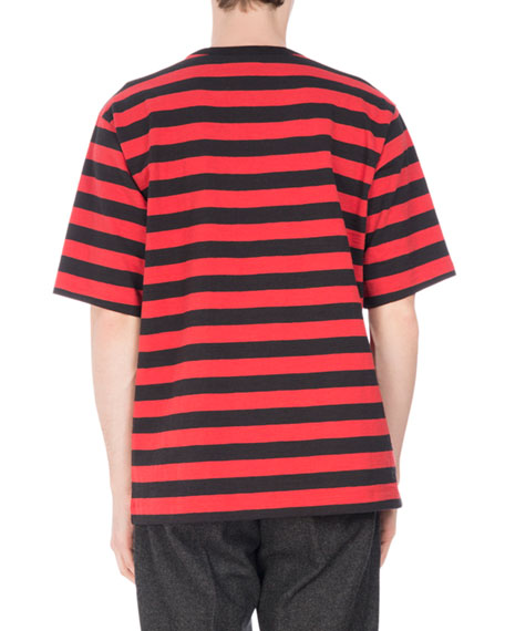 Holiday Striped Crewneck T-Shirt