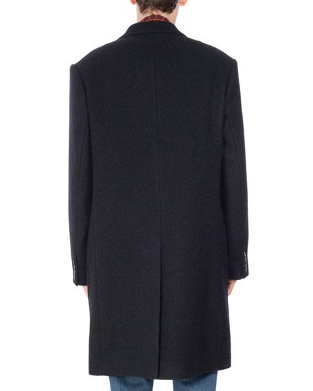 Riot Notch-Collar Wool Topcoat