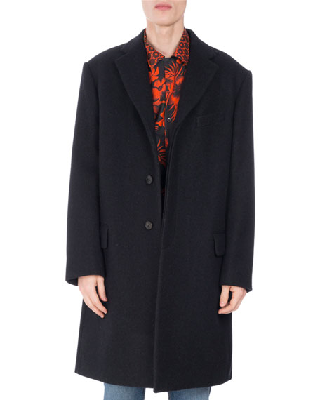 Riot Notch-Collar Wool Topcoat