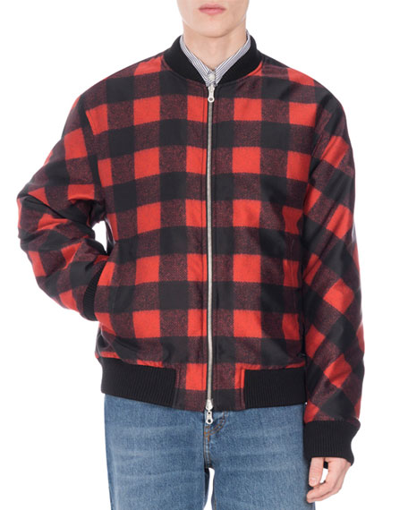 Volker Reversible Buffalo Check Bomber Jacket