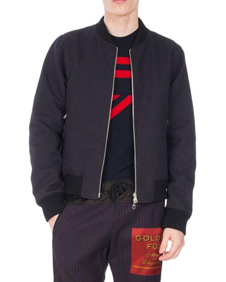 Vinny Zip-Front Bomber Jacket