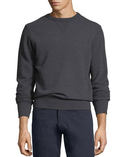 Crewneck Heathered Sweatshirt