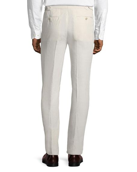 Linen-Silk Slub Trousers