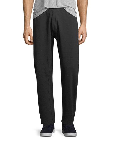 ESS Cotton-Stretch Fleece Pants, Black