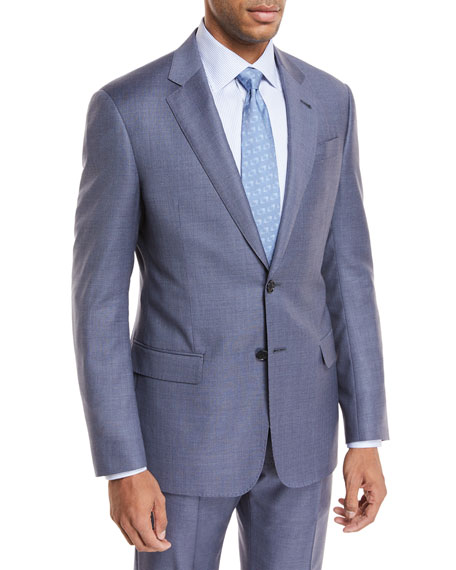Micro-Check Wool Two-Piece Suit