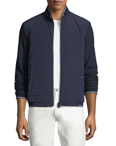 Quilted Reversible Baseball Jacket