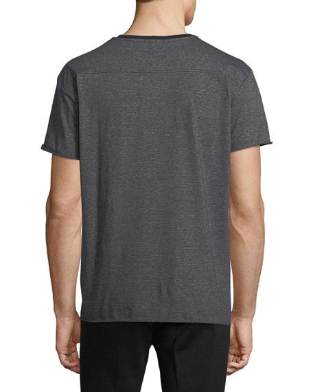 Oversized Feeder Stripe Jersey T-Shirt