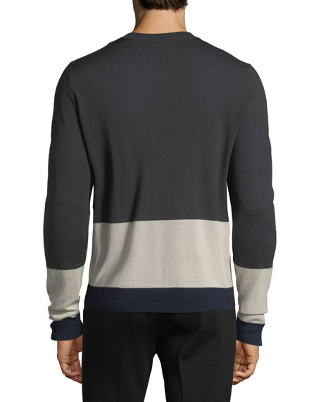 Merino Wool Colorblocked Sweater