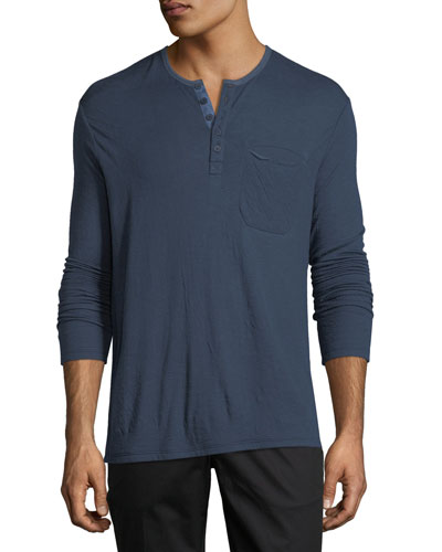 Double-Faced Henley Shirt