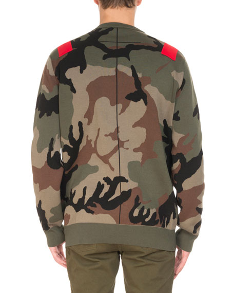 Camouflage-Print Sweatshirt