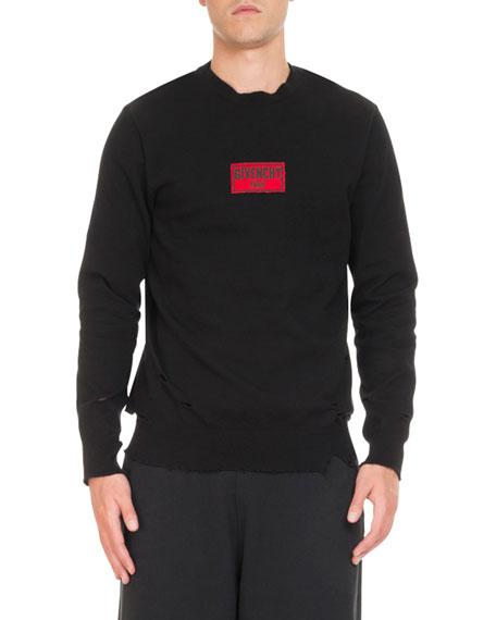Boxing-Inspired Distressed Sweatshirt