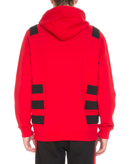 Contrast-Banded Pullover Hoodie