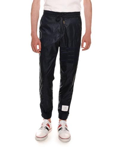 Mesh Four-Bar Sweatpants