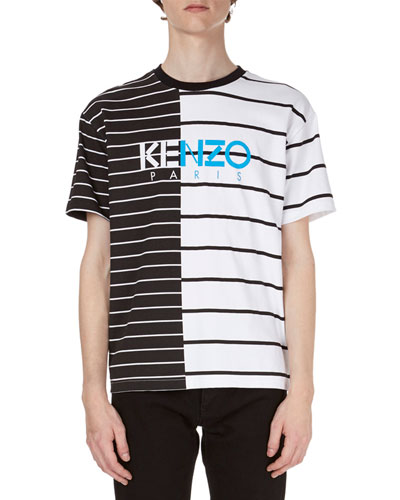 Striped Logo Short-Sleeve T-Shirt