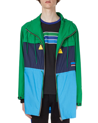 Colorblock Cotton Parka