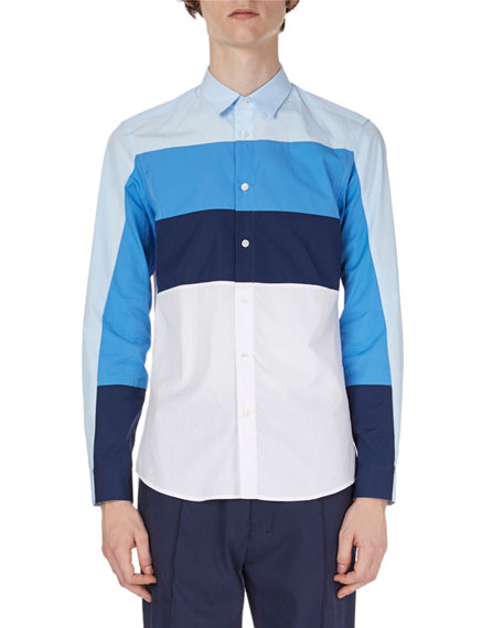 Striped Cotton Sport Shirt