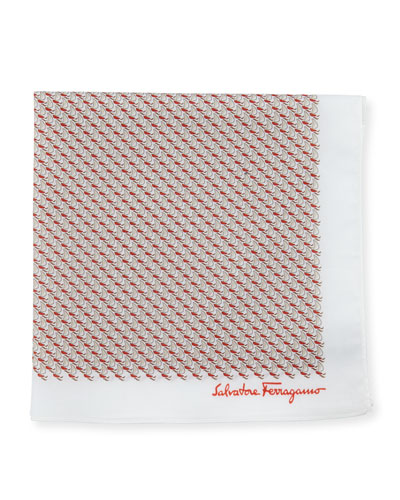 Men's Sailboat Cotton Twill Pocket Square