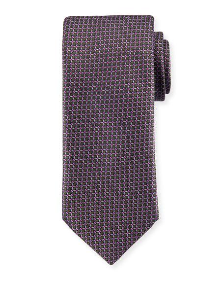 Box Pattern Silk Tie