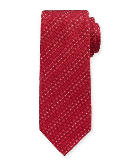 Salvatore Ferragamo Este-Stripe Silk Tie