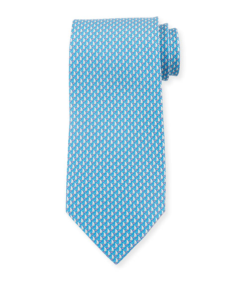 Men's Sailboat Silk Tie