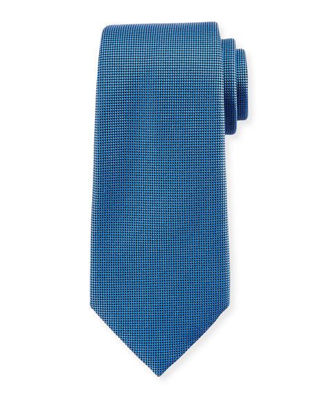 Ermenegildo Zegna Textured Solid Silk Tie, Blue