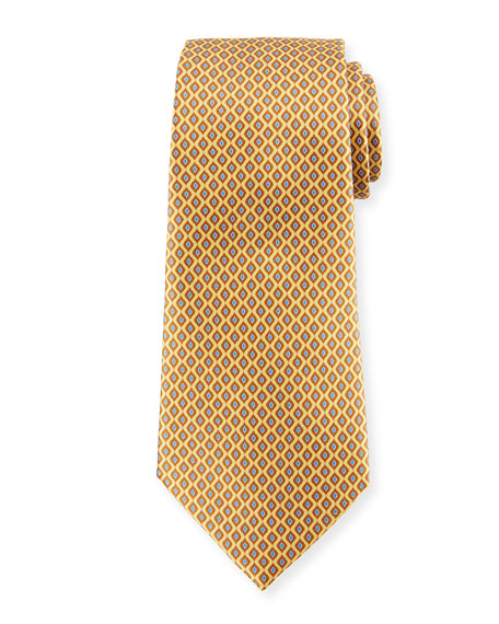 Printed Diamonds Silk Tie
