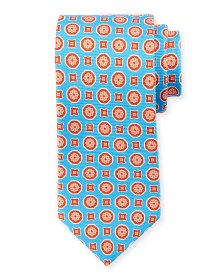 Medallion-Print Silk Tie