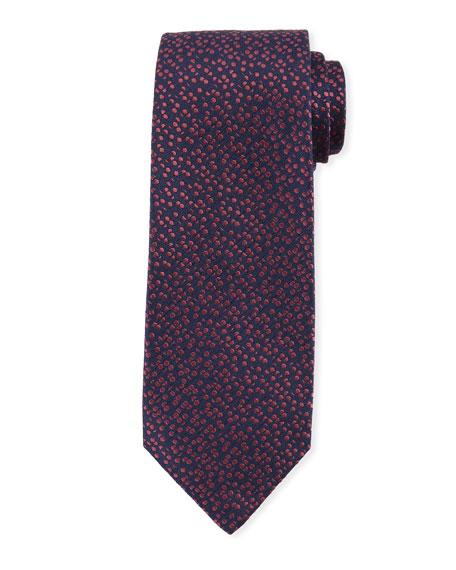 Isaia Pebble-Textured Silk Tie