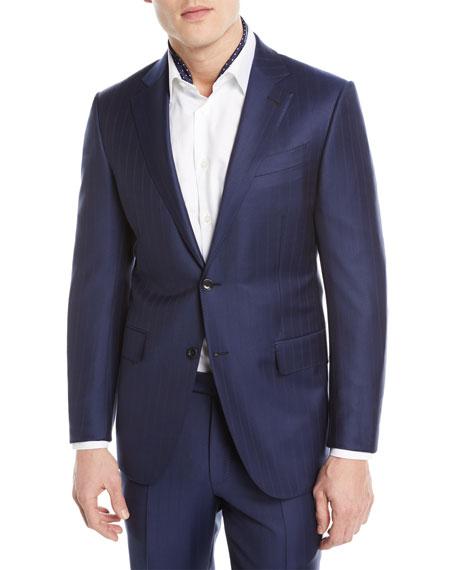 Ermenegildo Zegna Twin Striped Trofeo® Wool Two-Piece Suit