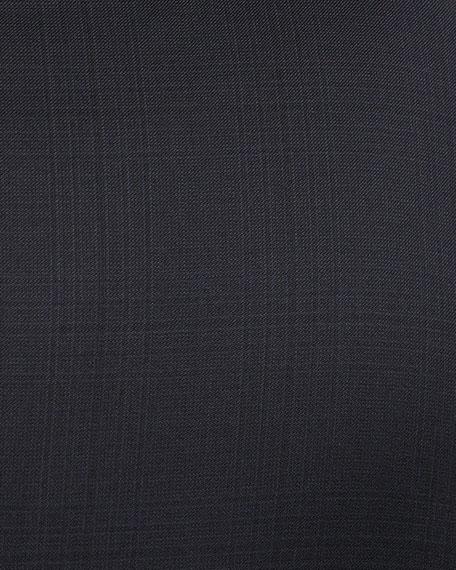 Tonal Plaid Two-Piece Suit, Blue