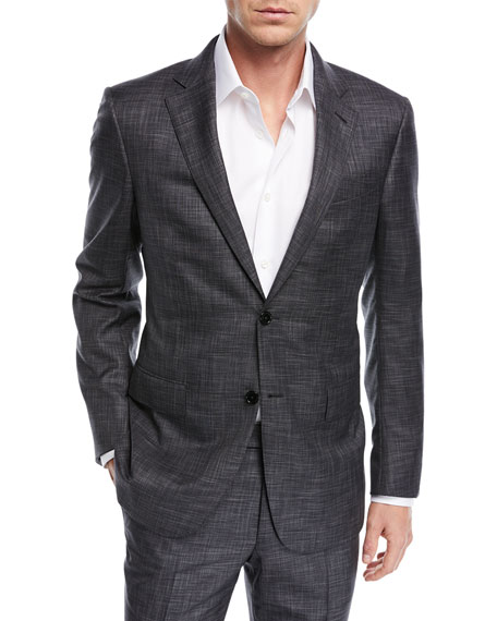 Striated Wool Two-Piece Suit