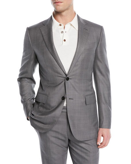 Ermenegildo Zegna Light Plaid Wool-Blend Two-Piece Suit