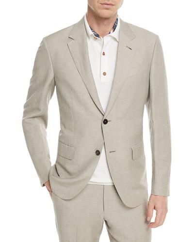 Solid Summer Trofeo® Wool/Linen Two-Piece Suit