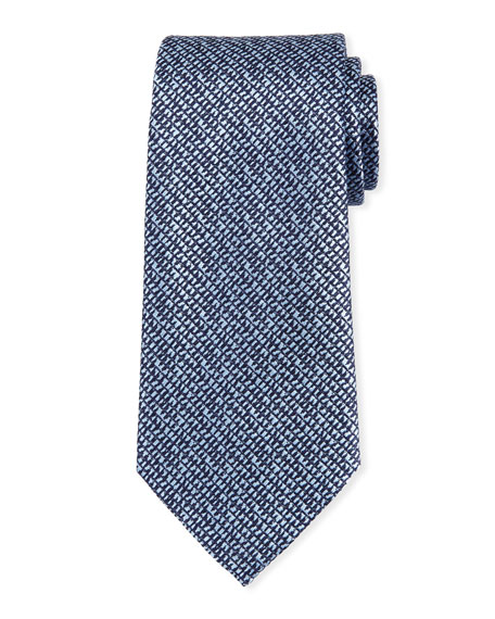 Grafiato Check Silk Tie