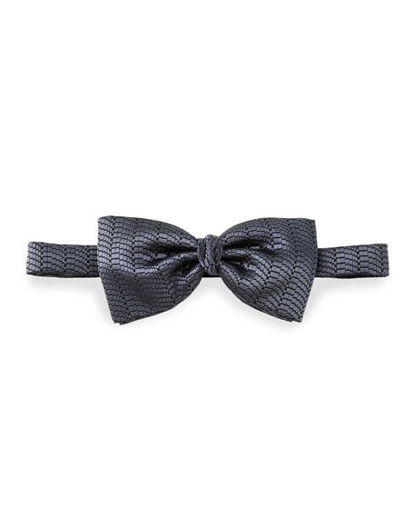 Pre-Tied Tonal-Striped Silk Bow Tie