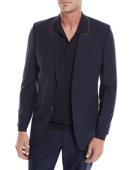 Ermenegildo Zegna Men's Tonal Check Two-Piece Suit
