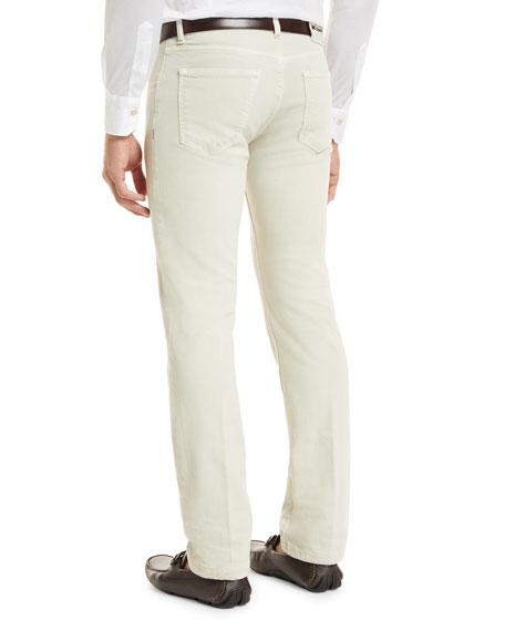 Denim Five-Pocket Jeans, Tan