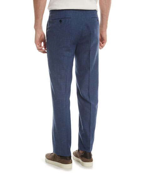 Melange Wool-Blend Trousers