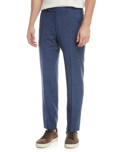 Melange Wool-Blend Trousers