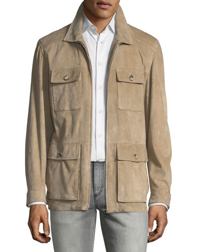Suede Field Jacket